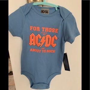 AC/DC onesie NWT 18 months